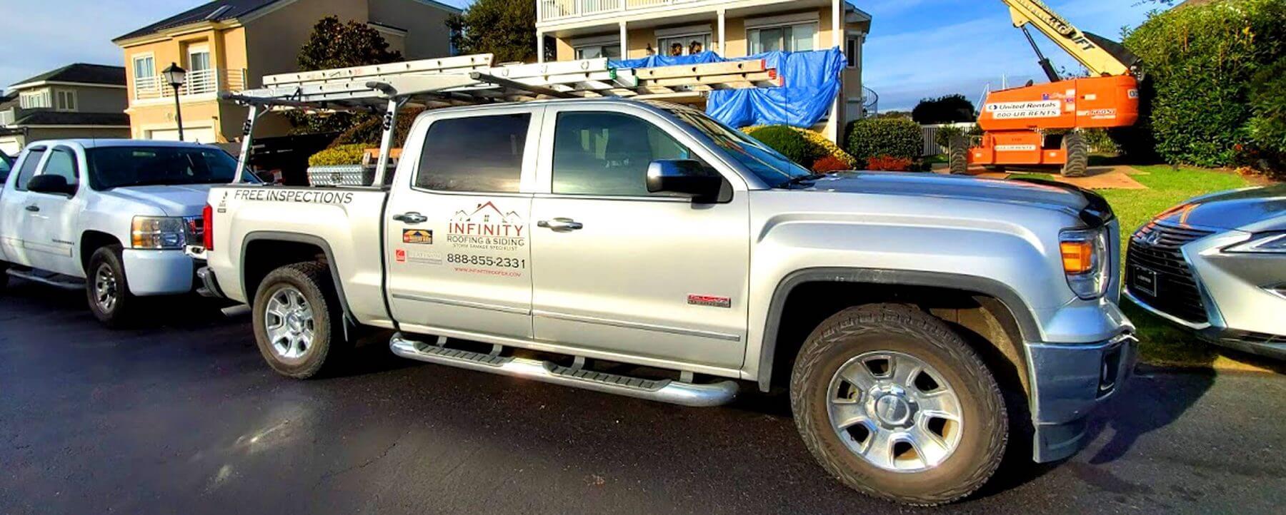 roof repair company truck