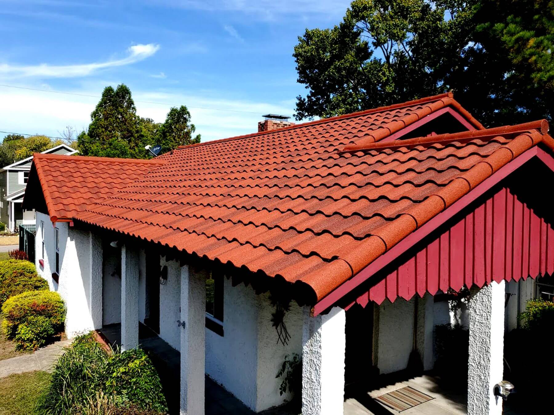 house with a specialty roof
