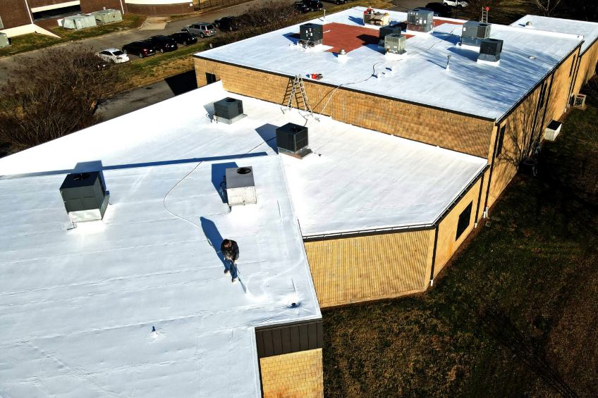 roof waterproofing with silicone coating