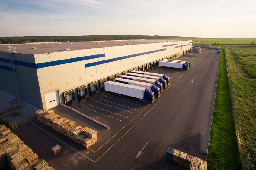 distribution center with flat roof